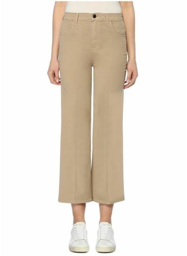 J Brand Yüksek Bel Bol Paça Pantolon Bej